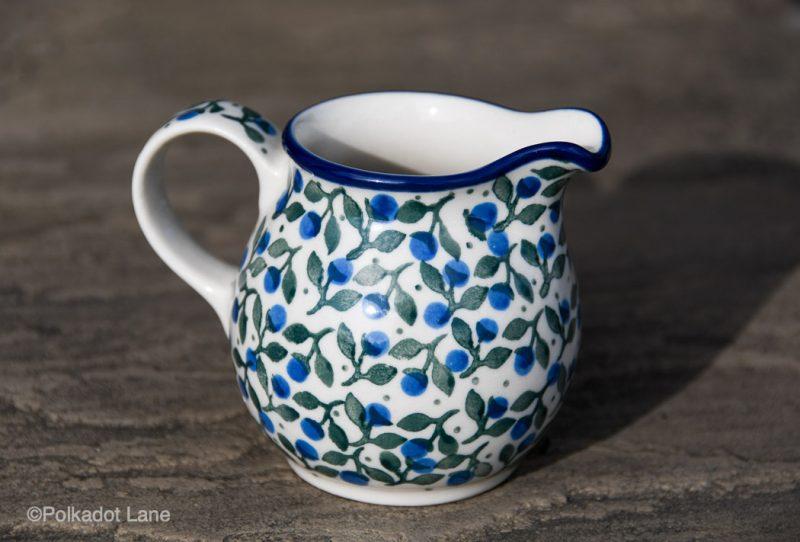 Blue Berry Leaf Small Milk Jug by Ceramika Artystyczna