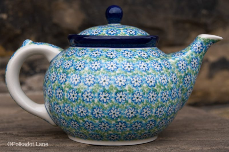 Turquoise Daisy Teapot for Four by Ceramika Artystyczna
